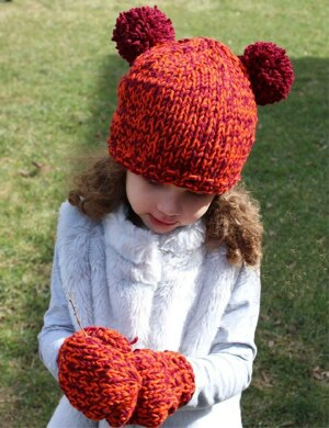 The Bear Hat and Mitten Set