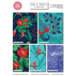 Craft Cotton Company Birds of Paradise Navy Fat Quarter Bundle - Blue