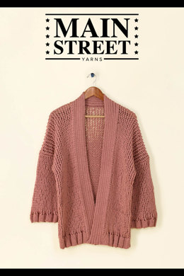 Nancy Cardigan in Main Street Yarns Shiny + Soft - Downloadable PDF