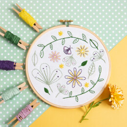 Hawthorn Handmade Wildflower Meadow Contemporary Embroidery Kit