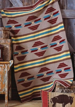 Sunset Throw in Red Heart Super Saver Economy Solids - CTSept08-53
