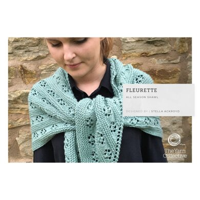Fleurette Shawl by Stella Ackroyd in The Yarn Collective - Downloadable PDF