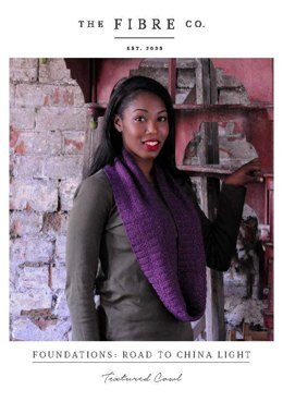 Textured Cowl in The Fibre Co. Road to China Light - Downloadable PDF