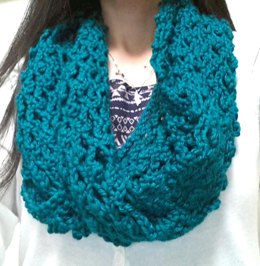 So Easy Lace Mesh Infinity Scarf