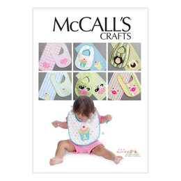 McCall's Bibs and Burp Cloths M6478 - Paper Pattern Size One Size Only