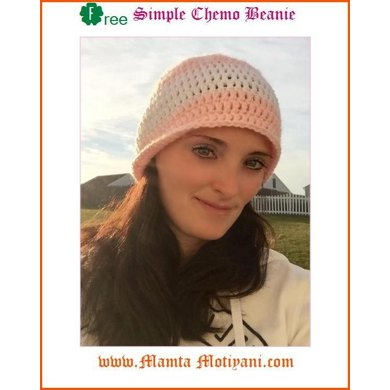 Simple Chemo Cap Beanie Hat Crochet Pattern By Mamta Motiyani