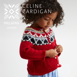 """ Celine Cardigan "" - Cardigan Knitting Pattern For Girls in MillaMia Naturally Soft Merino by MillaMia"