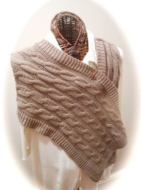Mocha Link Cabled Scarf