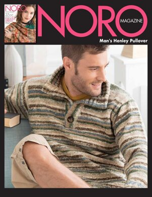 Man's Henley Pullover in Noro Nishiki - 14864 - Downloadable PDF