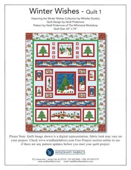 Windham Fabrics Winter Greeting from Winter Wishes  - Downloadable PDF