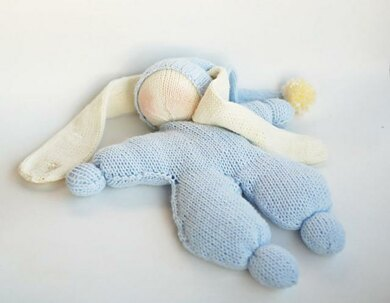 Waldorf knitted Rabbit doll for small babies Knitting ...