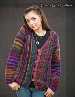 Precious Gems Cardigan Wisdom Yarns Poems - Downloadable PDF