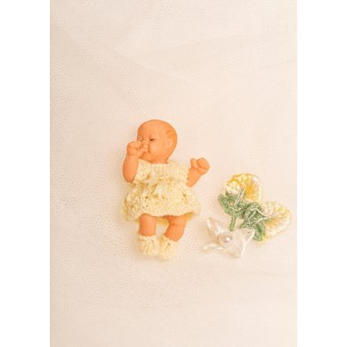 Miniature Baby Dress, Pants and Booties