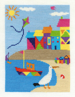 DMC Beach Houses 14 Count Cross Stitch Kit