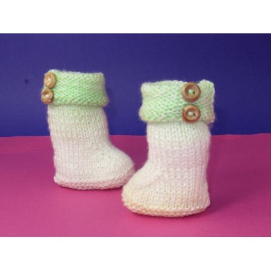 Easy Baby Double Cuff Marble Booties