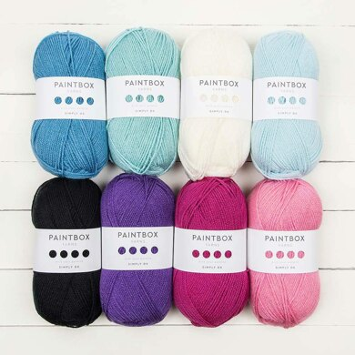 Paintbox Yarns Simply DK 8 Ball Color Pack Your Crochet & Knitting Magazine by Bella Coco