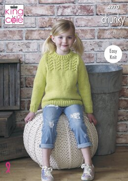 1fa731a0e Sweater and Cardigan in King Cole Comfort Chunky - 4970