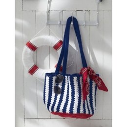 Nautical Striped Bag in Lily Sugar and Cream Solids