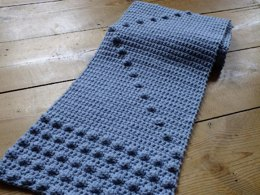 Denim Bobble Scarf