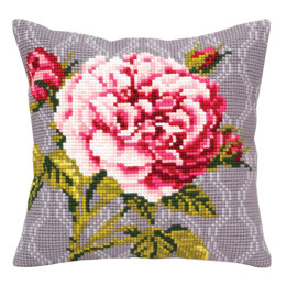 Collection D'Art Tender Rose Cushion Cross Stitch Kit