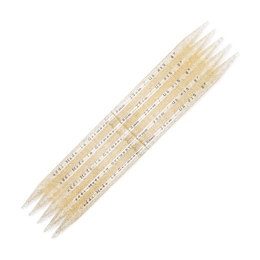 Addi Gold-Glitter Double Point Needles 23cm