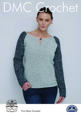 First Base Sweater in Natura Denim in DMC - 15459L/2 - Leaflet