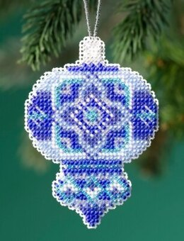 Mill Hill Beaded Holiday - Azure Medallion Beaded Ornament