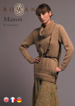 Manon Open Sided Sweater with Cowl Neck in Rowan Kid Classic