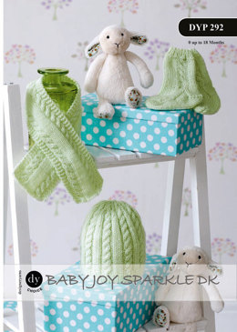 Hat, Scarf and Socks in DY Choice Baby Joy Sparkle DK - Downloadable PDF