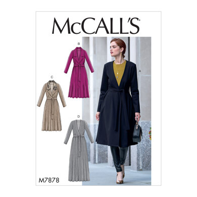 McCall's Misses' Jacket and Belt M7878 - Sewing Pattern