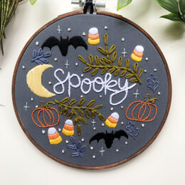 Spooky Halloween Embroidery Pattern
