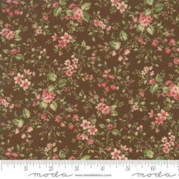 Moda Fabrics Roses and Chocolate II Floral Sprays Brown