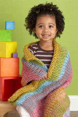 Cascading Colors Baby Blankie in Lion Brand Cotton-Ease and Jiffy - 80099AD