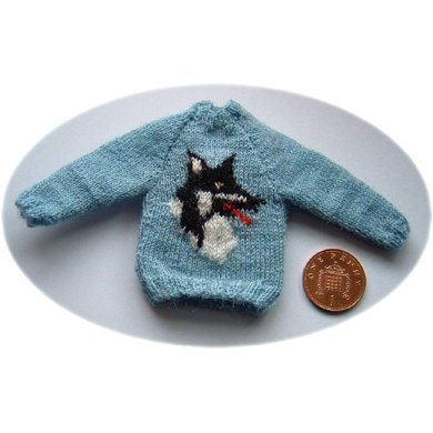 1:12th scale sweater with collie