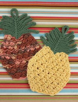 Pineapple Dishcloth in Lily Sugar 'n Cream Solids
