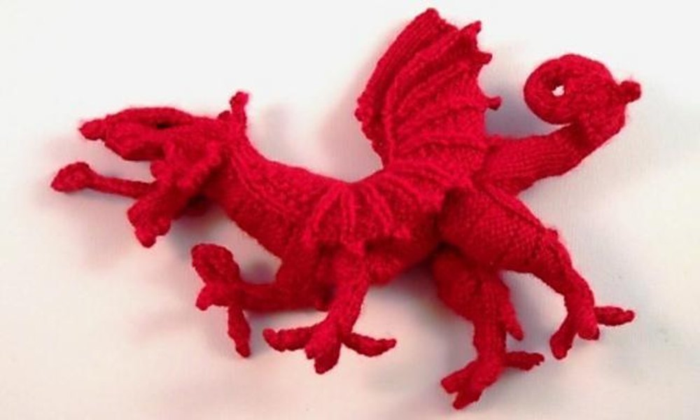 Y Ddraig Goch The Welsh Dragon Knitting Pattern By Tony Goddard