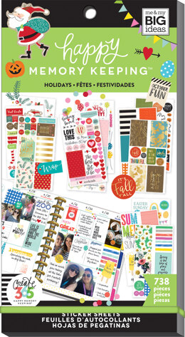 Me & My Big Ideas Happy Planner Sticker Value Pack - Seasons & Holidays, 738/Pkg
