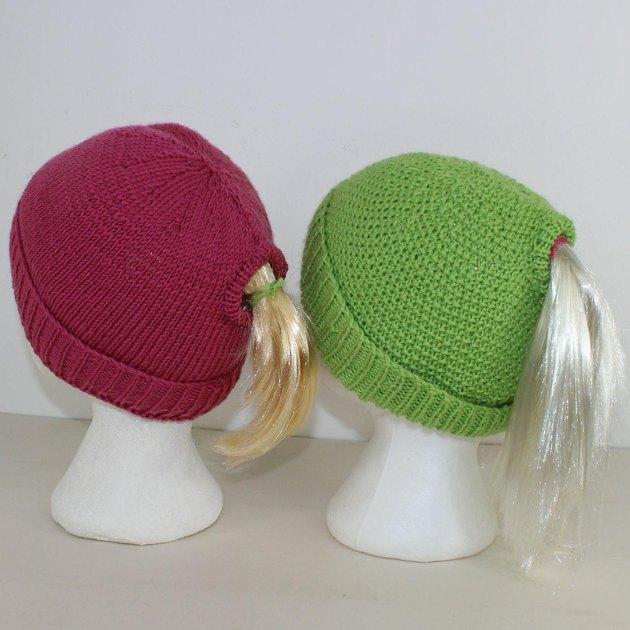 Ponytail Beanie Hat Knitting Pattern By Madmonkeyknits