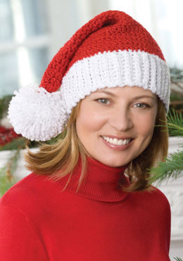 Santa Hat in Red Heart Holiday - LW2256 - Downloadable PDF