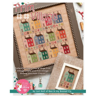 It's Sew Emma Prim Village Cross Stitch by Lori Holt for Bee in my Bonnet Company - ISE-412 - Leaflet