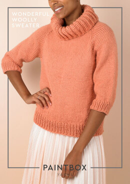 f8b9d1482e Wonderful Woolly Sweater in Paintbox Yarns Wool Mix Chunky - Downloadable  PDF