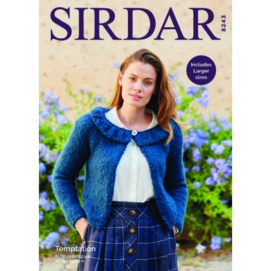 Cardigan in Sirdar Temptation - 8243 - Downloadable PDF