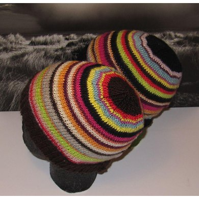 LUCKY DIP SILK STRIPED BEANIE HAT