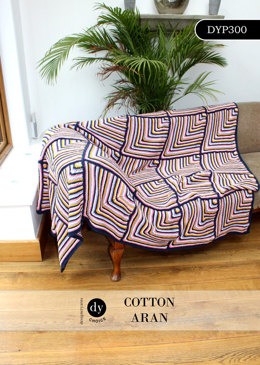 Throw in DY Choice Cotton Aran - DYP300 - Downloadable PDF