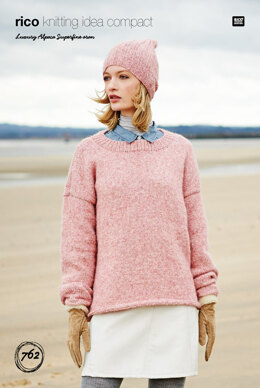 Sweater & Hat in Rico Luxury Alpaca Superfine - 762 - Downloadable PDF