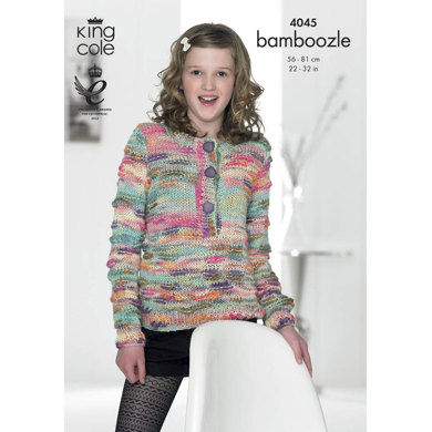 Sweaters in King Cole Bamboozle - 4045