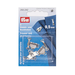 Prym Trouser Hooks and Bars 9.5mm - Silver
