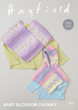 Ponchos in Hayfield Baby Blossom - 4679 - Downloadable PDF