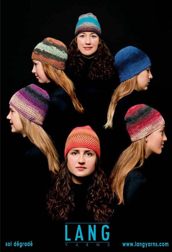 Crocheted Cap In Lang Yarns Sol Degrade Crochet Patterns