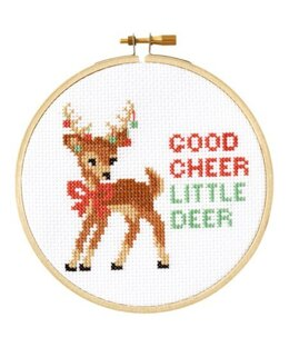 The Stranded Stitch Good Cheer Cross Stitch Kit - 5 inches
